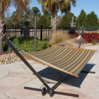 Castaway Duracord Tan Striped Quilted Hammock Image 2