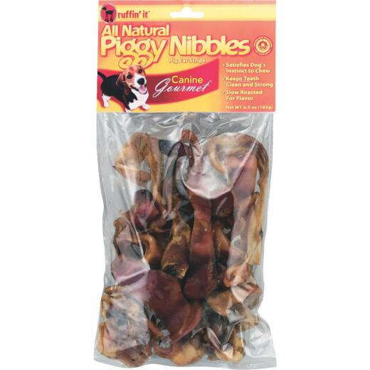 Ruffin' it Canine Gourmet Piggy Nibbles Natural Flavor Chewy Dog Treat, 6.5 Oz.