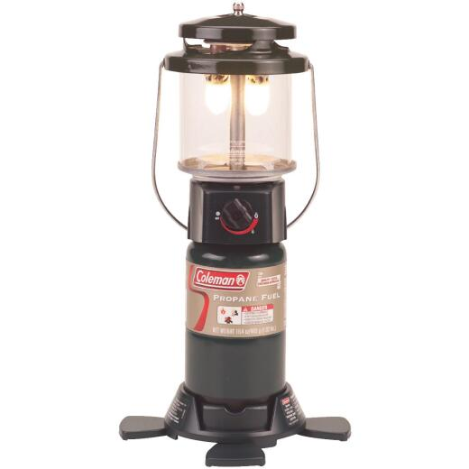 Coleman PerfectFlow 12 In. H x 8 In. Dia. Black Propane Lantern with Case