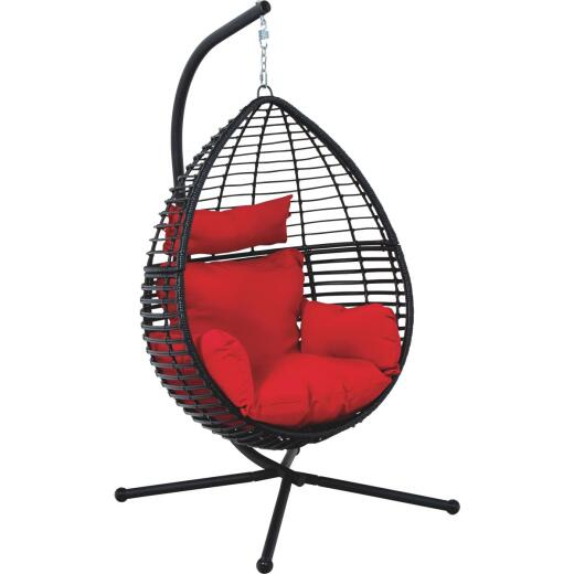 Dura Soleil Lucerne Red Olefin Hanging & Standing Chair