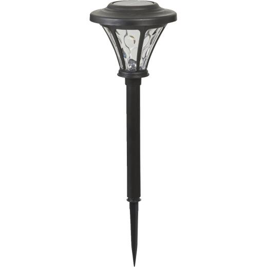 Moonrays Black 5-Lumen Plastic LED Solar Path Light