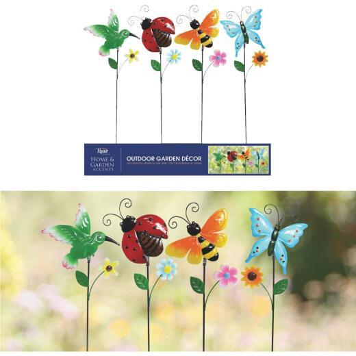 Alpine Iron Pot Sticker Lawn Ornament
