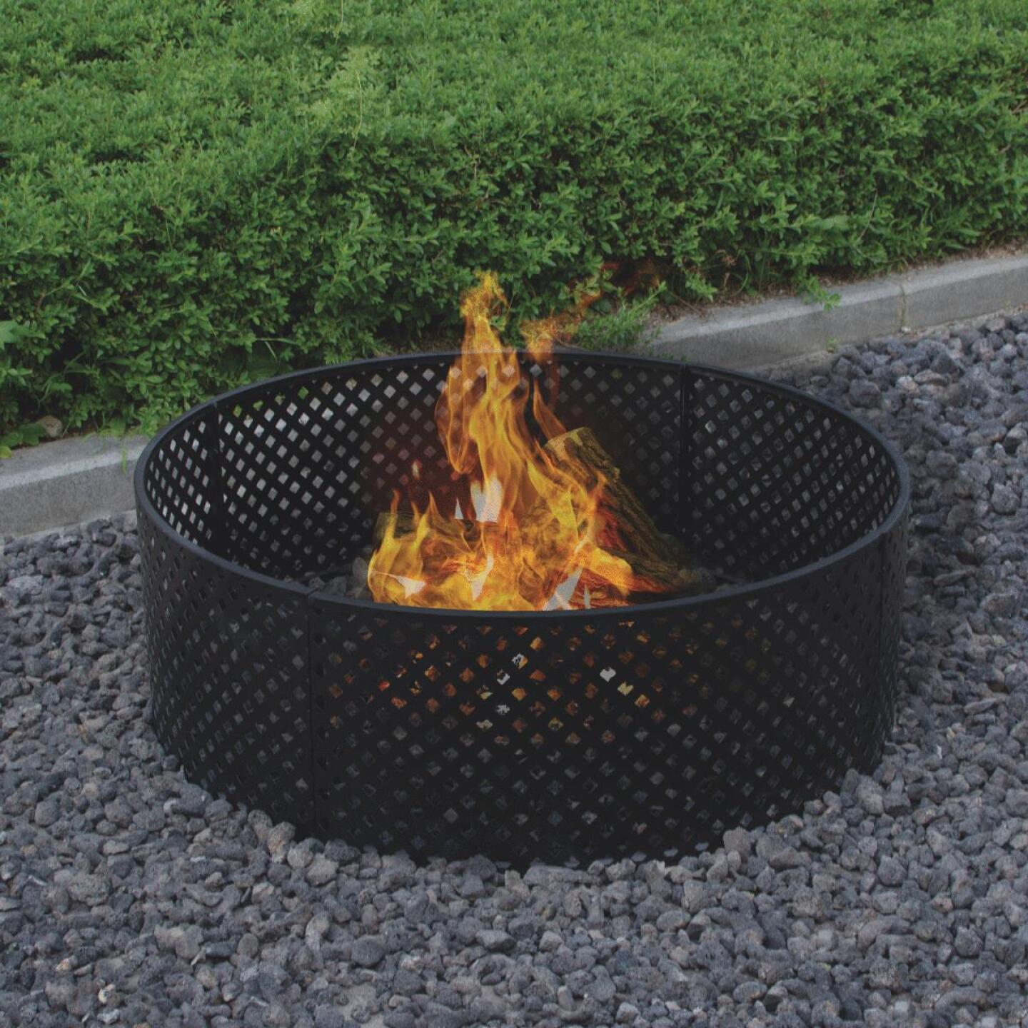 Bond 36 In. Powder Coated Steel Lattice Style Fire Ring Image 1