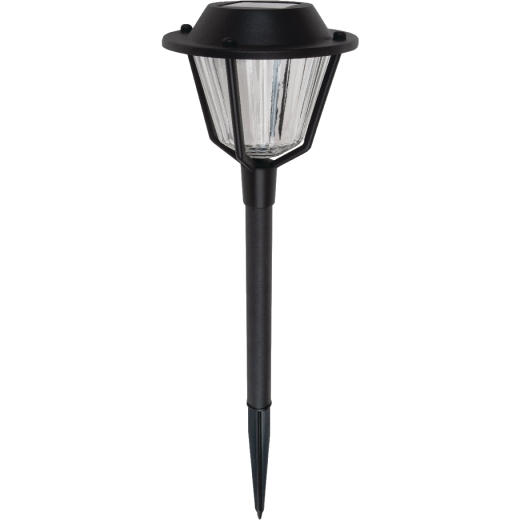 Fusion Black 10 Lumens Metal & Plastic Stake Round Top Solar Path Light