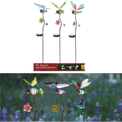 Alpine Solaris Metal 35 In. to 38 In. H. Insect Solar Garden Stake