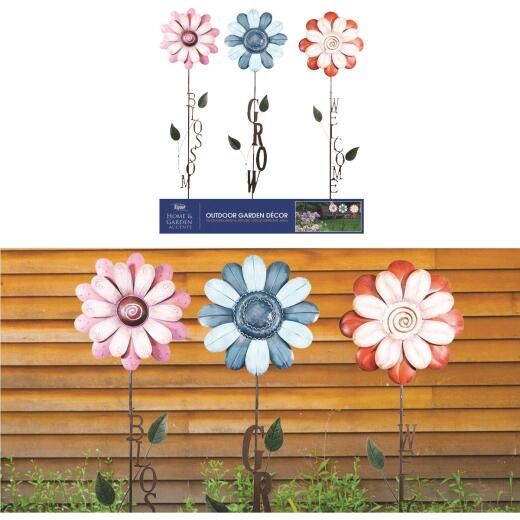Alpine Metal Assorted Flower Garden Stake