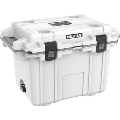 Pelican Elite 50-Qt. Cooler, White & Gray