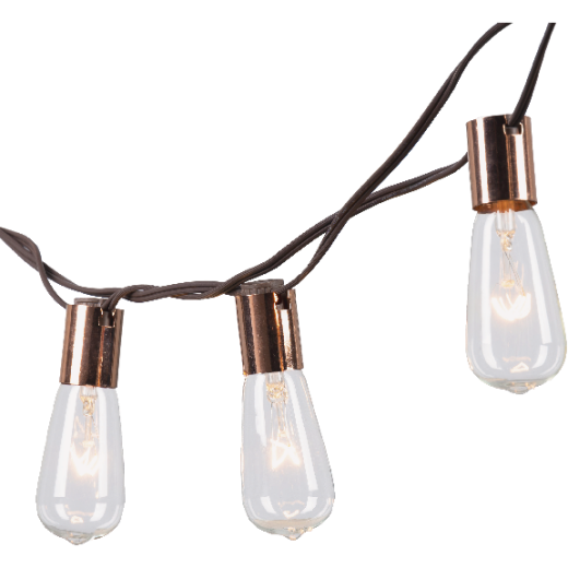 Gerson 10 Ft. Clear LED Patio String Lights