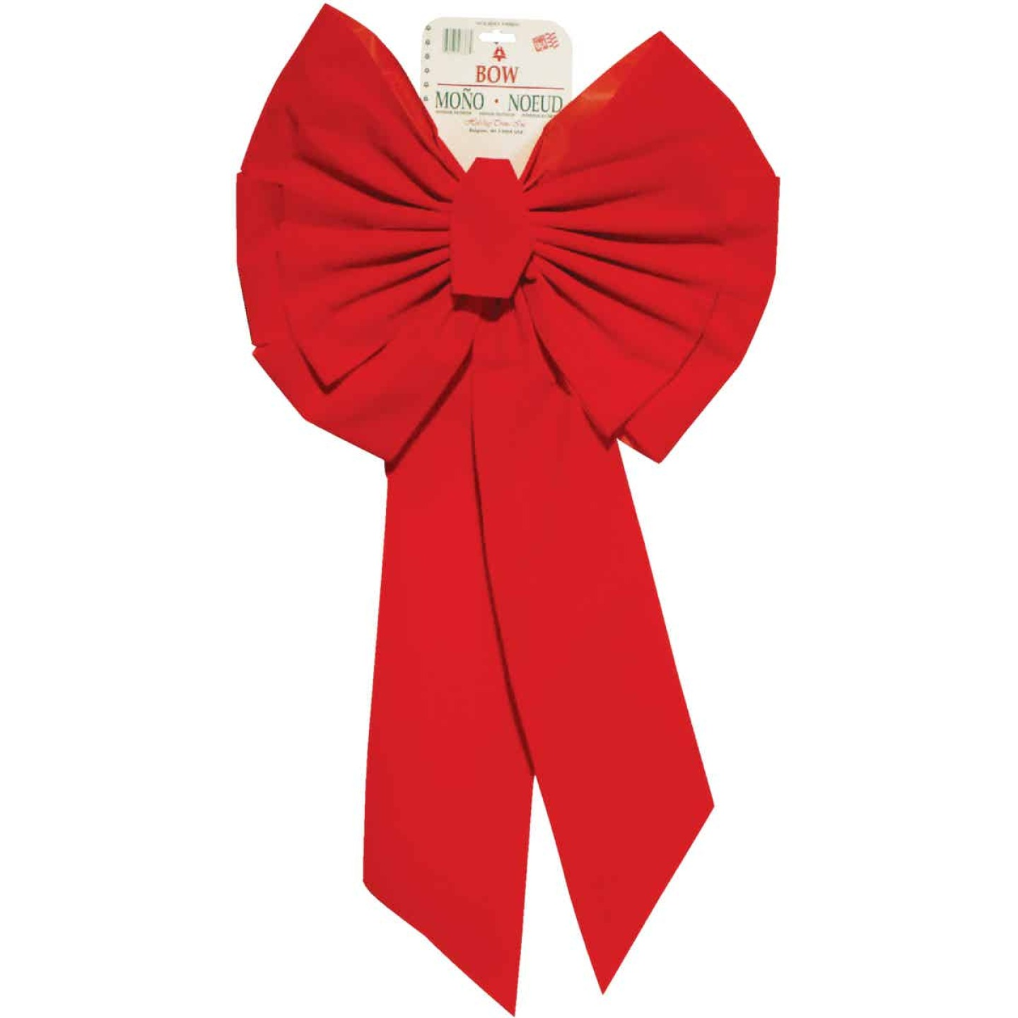 Holiday Trims 11-Loop 18 In. W. x 35 In. L. Red Velvet Christmas Bow Image 1