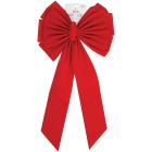 Holiday Trims 11-Loop 18 In. W. x 35 In. L. Red Velvet Christmas Bow Image 2