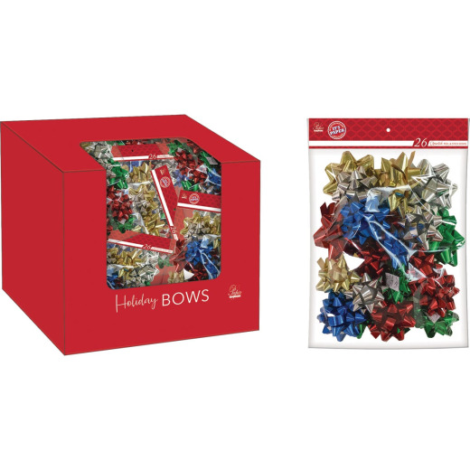 Paper Images Assorted Size Traditional Gift Bow (26-Pack)