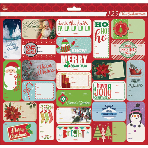 Paper Images Christmas Gift Tags (125-Pack)