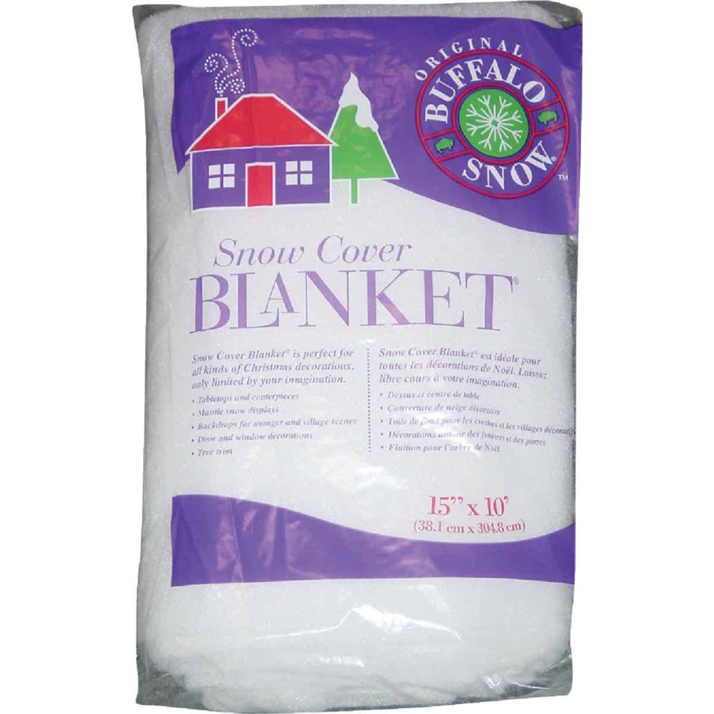 Buffalo Snow 15 In. W. x 10 Ft. L. x 1 In. Thick Snow Blanket Image 1
