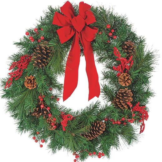 Gerson 30 In. Pine Artificial Wreath with Bow