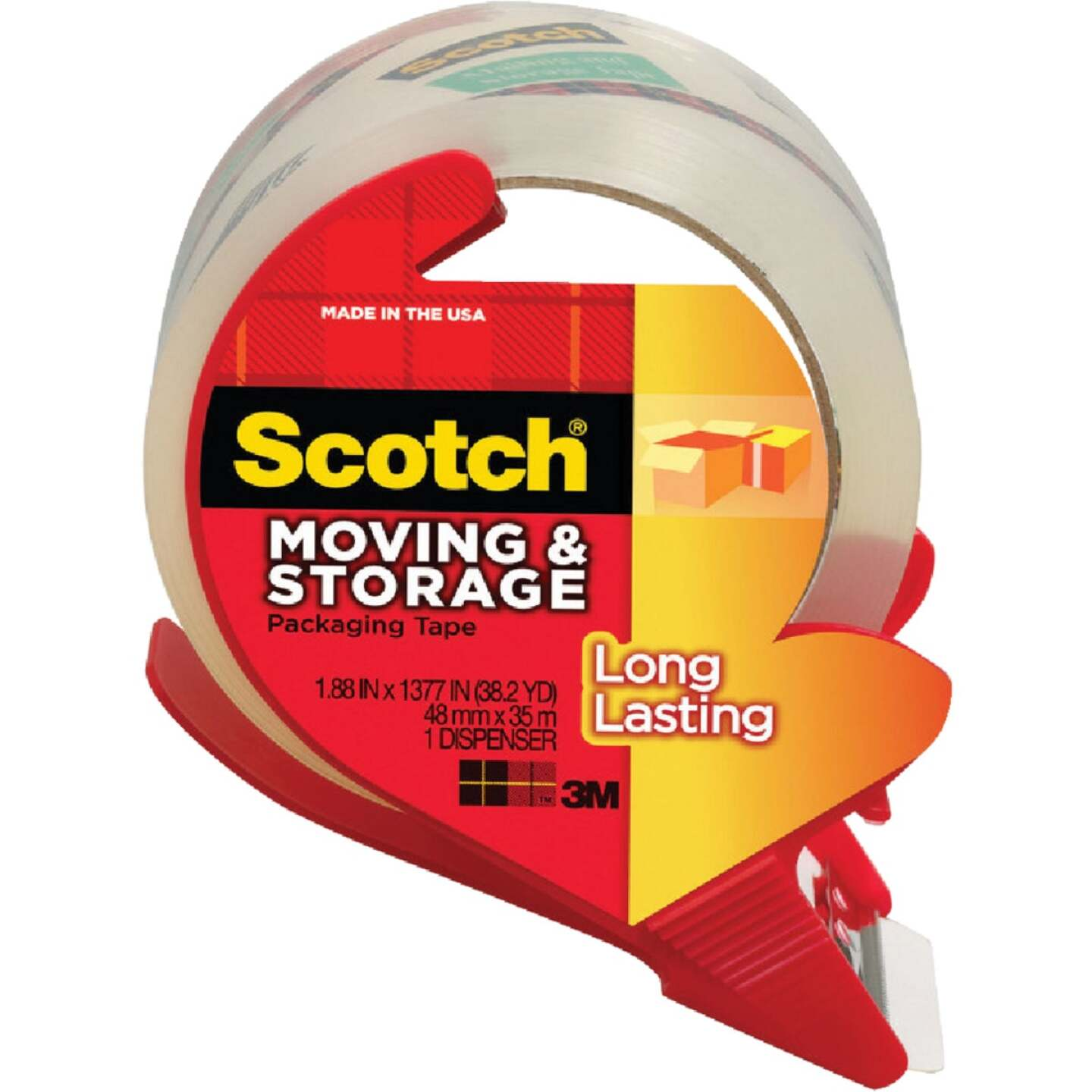 3M Scotch 1.88 In. x 38.2 Yd. Clear Box Sealing Tape Image 1