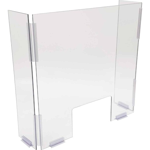 Siffron 24 In. W. x 24 In. H. x 6 In. D. Counter Top Cough/Sneeze Guard with Wing Panels